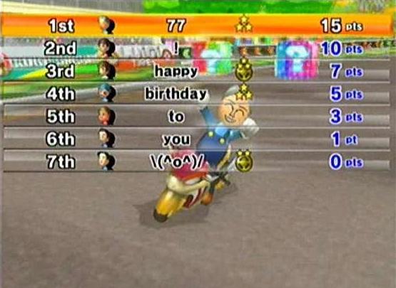 马里奥赛车Wii 我的生日杯